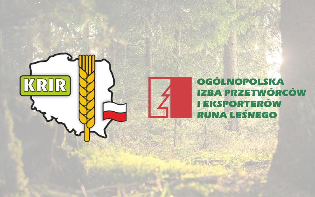 Współpraca z Ogólnopolską Izbą Przetwórców i Eksporterów Runa Leśnego